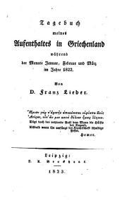 Tagebuch meines aufenthaltes in Griechenland während der monate januar, februar und märz im jahre 1822