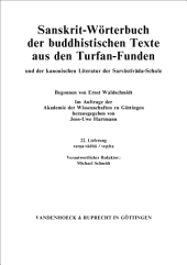 Sanskrit dictionary of the buddhist texts from the Turfan finds