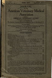 Journal of the American Veterinary Medical Association: Volume 6; Volume 53