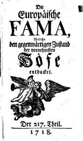 Die europäische Fama, welche den gegenwärtigen Zustand der vornehmsten Höfe entdecket: Band 19