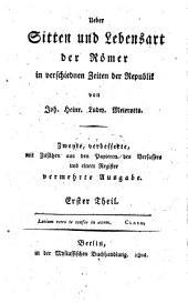 Über Sitte und Lebensart der Römer: Teil 1
