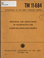 Principles and Applications of Mathematics for Communications electronics PDF