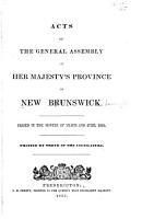 Acts of New Brunswick PDF