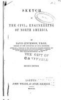 Sketch of the Civil Engineering of North America PDF