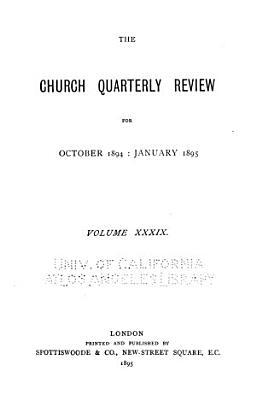 The Church Quarterly Review PDF