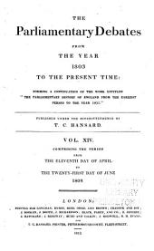 The Parliamentary Debates from the Year 1803 to the Present Time: Volume 14