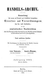 Handels-Archiv: Wochenschrift für Handel, Gewerbe und Verkehrsanstalten : nach amtlichen Quellen. 1851, 2
