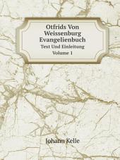 Otfrids Von Weissenburg Evangelienbuch