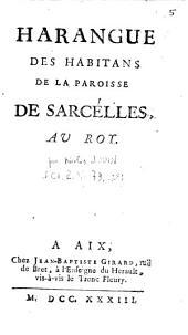 Harangue des habitans de la paroisse de Sarcelles au roy