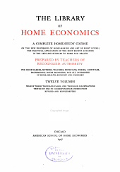 The Library of Home Economics: Chemistry of the household
