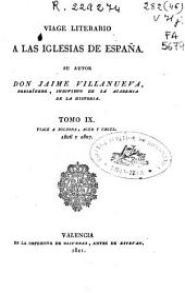 Viage literario a las iglesias de España: Volumen 9