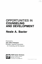 Opportunities In Counseling And Development Book PDF