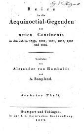 Reise in die aequinoctial-gegenden des neuen continents in den jahren 1799, 1800, 1801, 1803 und 1804: Band 6