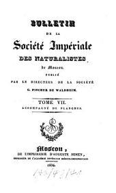 Bjulletenʹ Moskovskogo Obščestva Ispytatelej Prirody: Volume7