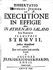 Diss. hist. iur. de executione in effigie
