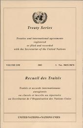 Treaty Series 2190 I:38652-38676