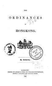 The Ordinances of Hongkong: Volume 10