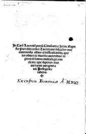 In Carum Lucretium Commentarii