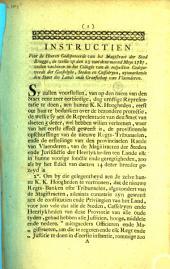 Instructien voor de heeren gedeputeerde van het magistraet der stad Brugge
