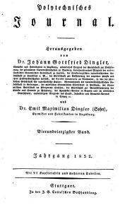 Polytechnisches Journal: Band 44