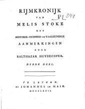 Rijmkronijk van Melis Stoke: Volume 3