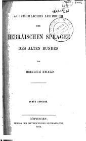 Ausführliches Lehrbuch der hebräischen Sprache des Alten Bundes