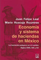 Economía y sistema de haciendas en México: La hacienda pulquera en el cambio, Siglos XVIII, XIX y XX