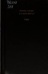 Temporal Clauses in Cicero s Epistles PDF