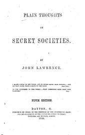 Plain Thoughts on Secret Societies