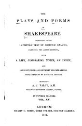 The Plays and Poems of Shakespeare: Poems. Index to the striking passages and beauties