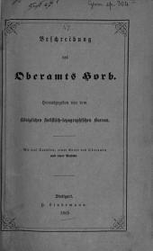 Beschreibung des Oberamts Horb