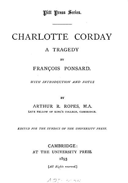 Download Charlotte Corday Book