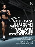 Single Case Research Methods in Sport and Exercise PDF