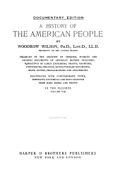 A History of the American People: Volume 8