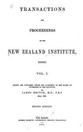 Transactions and Proceedings of the New Zealand Institute: Volume 1