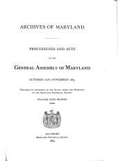 Archives of Maryland: Volume 7