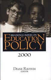 Brookings Papers on Education Policy: 2000