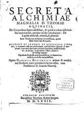 Secreta Alchimiae magnalia