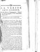La vérité sans aigreur par le Citoyen Pressavin, député du Rhône-et-Loire, à la Convention Nationale