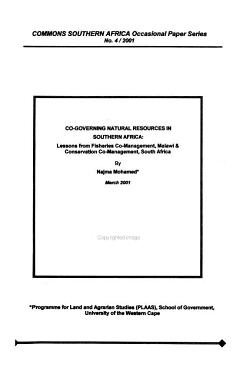 Co governing Natural Resources in Southern Africa PDF
