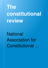 The Constitutional Review: Volumes 1-2