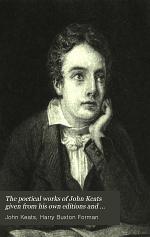 The Poetical Works of John Keats