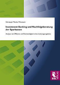 Investment Banking und Nachfolgeberatung der Sparkassen PDF