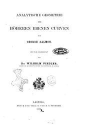 Analytische Geometrie der höheren ebenen Curven von George Salmon
