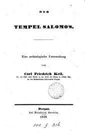 Der Tempel Salomós, eine archäologische Untersuchung
