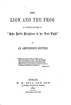 The Lion and the Frog PDF
