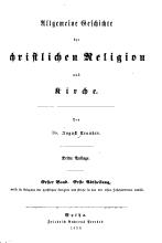 Allgemeine Geschichte der christlichen religion und kirche PDF