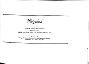 Nigeria  Official Standard Names Approved by the United States Board on Geographic Names PDF