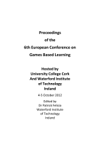 ECGBL2013 Proceedings of the 6th European Conference on Games Based Learning PDF