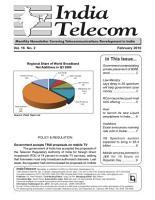 India Telecom Monthly Newsletter February 2010 PDF
